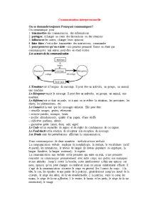Communication Interpersonnelle - Pagina 1