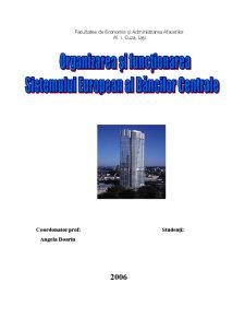 Organizarea si functionarea Sistemului Bancar al Bancilor Centrale - Pagina 1