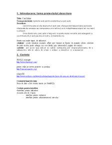 CarsOnline - Proiectarea Aplicatiilor Web - Pagina 2