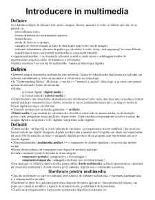 Multimedia - Pagina 1