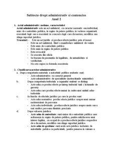 Drept Administrativ Contencios - Pagina 1