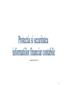 Protectia si Securitatea Informatiilor Financiar-Contabile - Pagina 1