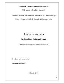 Emițătorii Optici și Domenii de Aplicare - Pagina 1
