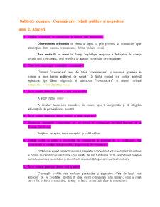 Subiecte Examen - Comunicare, Relatii Publice si Negociere - Pagina 1