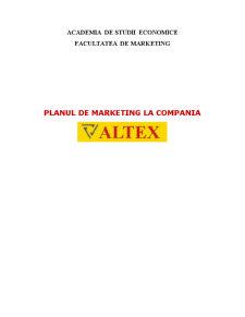 Plan de Marketing la Compania Altex - Pagina 1