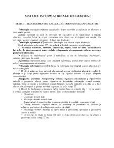 Sisteme Informatice de Gestiune - Pagina 1