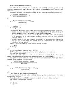 Analiza Ratelor de Rentabilitate - Pagina 1