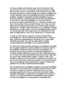 Reprezentarea Informațiilor cu Obiecte - Pagina 5