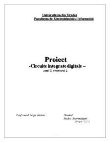 Proiectarea unui Dispozitiv de Comanda pentru un Automat de Schimbat Bancnote - Pagina 1
