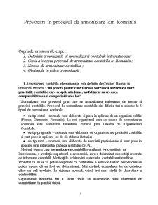Provocari in Procesul de Armonizare in Romania - Pagina 1