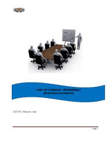 Curs de Formare Profesională - Pagina 1