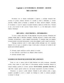 Automobilul Modern - Sistem Mecatronic - Pagina 1