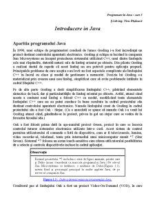 Introducere în Java - Pagina 1