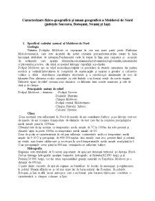 Moldova de Nord - Caracterizare - Pagina 1