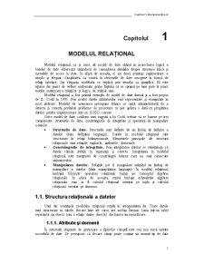Model Relational - Pagina 1