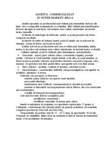 Clasificarea și Diversificarea Iaurtului - Pagina 1