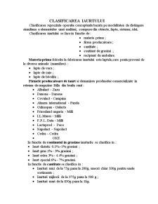 Clasificarea și Diversificarea Iaurtului - Pagina 2