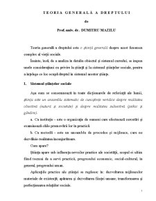 Teoria Generală a Dreptului - Pagina 1