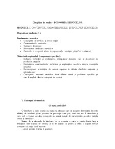 Economia Serviciilor - Pagina 1