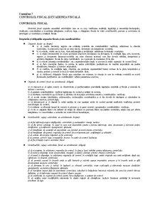 Controlul Fiscal și Evaziunea Fiscală - Pagina 1