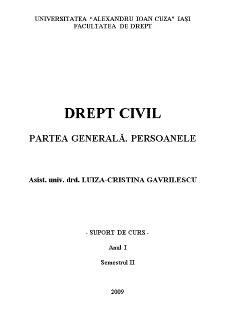 Drept Civil - Partea Generala - Persoanele - Pagina 1