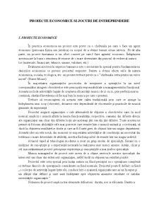 Proiecte Economice si Jocuri de Intreprindere - Pagina 1