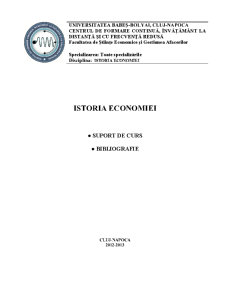 Istoria Economiei - Pagina 1