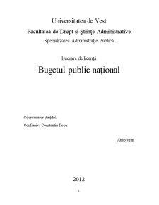Bugetul Public Național - Pagina 2