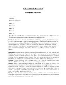 Stii sa Citesti Filosofie - Pagina 1