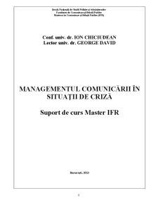 Managementul Comunicării de Criză - Pagina 1