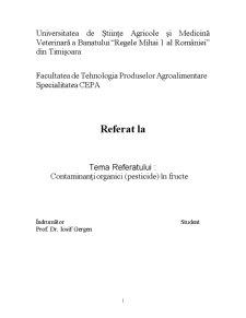 Contaminanti Organici in Fructe - Pagina 1