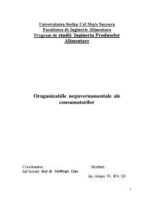 Oraganizatiile Neguvernamentale ale Consumatorilor - Pagina 1