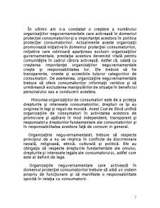 Oraganizatiile Neguvernamentale ale Consumatorilor - Pagina 2