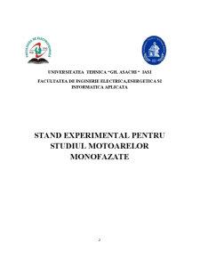 Stand Experimental pentru Studiul Motoarelor Monofazate - Pagina 2