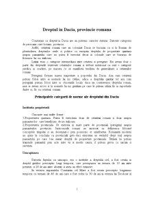 Dreptul in Dacia, Provincie Romana - Pagina 1
