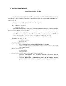 Structura Industriei de Catering - Pagina 1