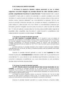 Acțiunile de Carte Funciară - Pagina 1