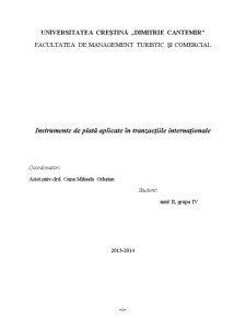 Instrumente de Plată Aplicate în Tranzacțiile Internaționale - Pagina 1