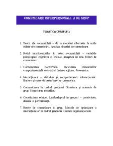 Comunicare Interpersonală și de Grup - Pagina 1