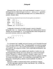 Hidrocarburi, Halogeni, Polimerizare - Pagina 1