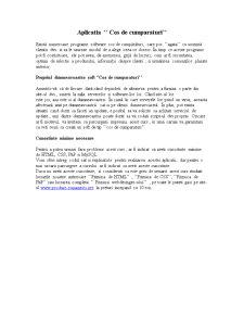 Aplicatia - Cos de Cumparaturi - Pagina 1