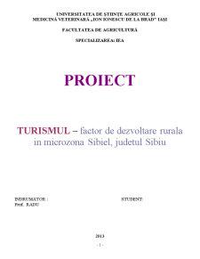 Turismul – Factor de Dezvoltare Rurala in Microzona Sibiel, Judetul Sibiu - Pagina 1