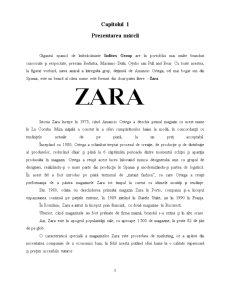 Comportamentul Consumatorului - Zara - Pagina 1