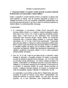 Dosarul Preturilor de Transfer - Intrebari si Raspunsuri Practice - Pagina 1