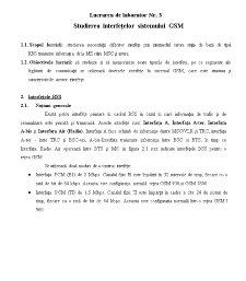 Studierea Interfețelor Sistemului GSM - Pagina 1