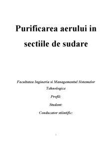 Purificarea Aerului in Sectiile de Sudare - Pagina 1