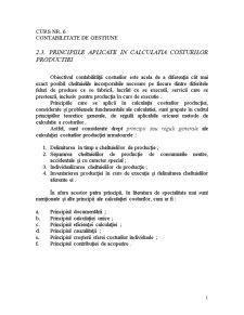 Contabilitate de Gestiune Curs 6 - Pagina 1
