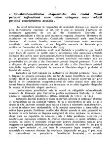Constitutionalitatea Dispozitiilor din Codul Penal cu Privire la Infractiunile de Prostitutie, Cersetorie si Vagabondaj - Pagina 2