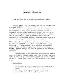 Reciclarea Deseurilor - Pagina 1