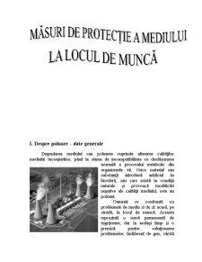 Masuri de Protectie a Mediului la Locul de Munca - Pagina 1